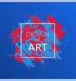 cover background with red-blue color vector image