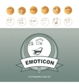Emoticons customizing vector image
