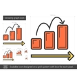 Growing graph line icon vector image
