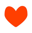 isolated image of a red heart vector image