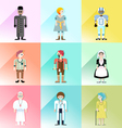people avatar set 1 vector image