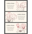 Set of cards with lotus flowers vector image