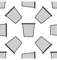 trash can seamless pattern on white background vector image