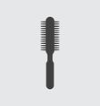Hair brush icon vector image