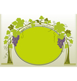 Grapes ornament vector image