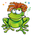 rasta frog cartoon vector image