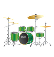 drums kits images vector image