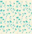 seamless pattern palm trees tropical summer vector image