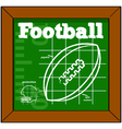Football lesson vector image vector image