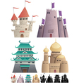 Cartoon Castles on White vector image vector image