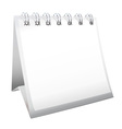 blank calendar with spiral bound vector image vector image
