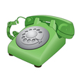 rotary phone vector image vector image