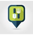 Garden tool flat pin map icon Map pointer vector image