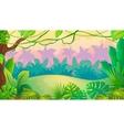 Fun Sunset Jungle Landscape vector image
