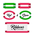 Set of ribbons and banners Flat style vector image