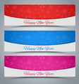 A set of banners Happy New Year 2016 vector image