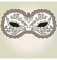 decorative mask vector image
