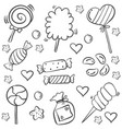 doodle of sketch sweet candy style vector image