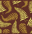 seamles vintage tropical pattern with leaves hand vector image