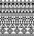 Seamless black Navajo print Aztec pattern Tribal vector image