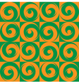 Seamless Circles Orange Green vector image