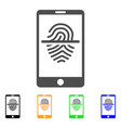 smartphone fingerprint scanner icon vector image