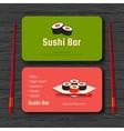 Sushi card vector image