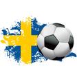 Sweden Soccer Grunge vector image
