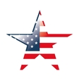 usa flag symbol star shape vector image