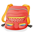 a red school bag vector image