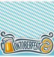 background poster for oktoberfest vector image