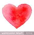 Red Watercolor Heart vector image