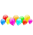 Colourful glossy balloons isolated on white vector image vector image