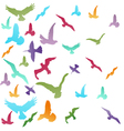Abstract birds background vector image vector image