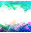 background low poly infographics vector image