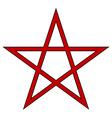 Pentagram icon vector image