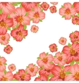 Background or card with pretty stylized flowers vector image vector image