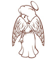 A plain sketch of an angel vector image