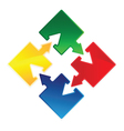 puzzle arrow vector image