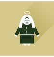 Flat icon with long shadow Mother Jesus Christ vector image