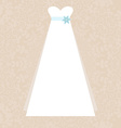 Bridal Dress vector image
