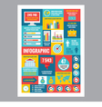 Business infographic - poster in flat design style vector image