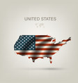 Flag of USA as a country vector image