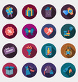 gift flat circle colorful shop icons with shadow vector image