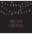 Glowing Colorful Christmas Lights Xmas Merry vector image