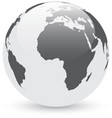 gray and white abstract globe vector image