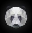 panda head polygon isolated vector image
