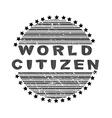 world citizen vector image