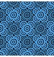 Background dark blue and black vector image