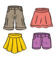 Pants and skirts vector image